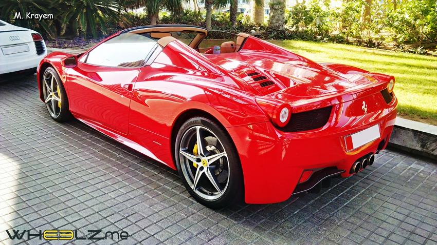 Ferrari 458 italia Spyder 5