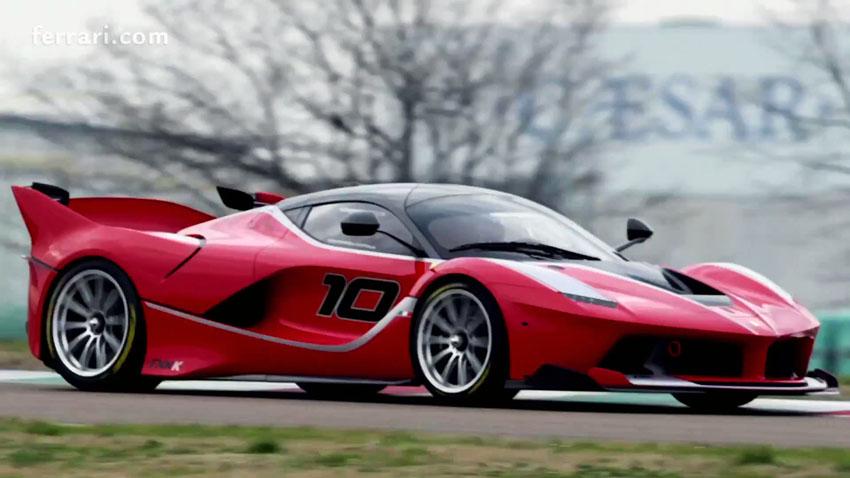 Vettel in the Ferrari FXX K 0575