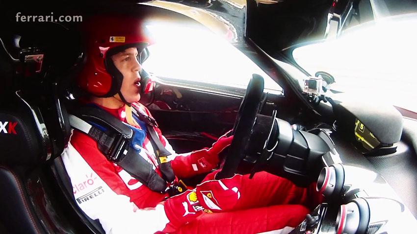 Vettel in the Ferrari FXX K 2317