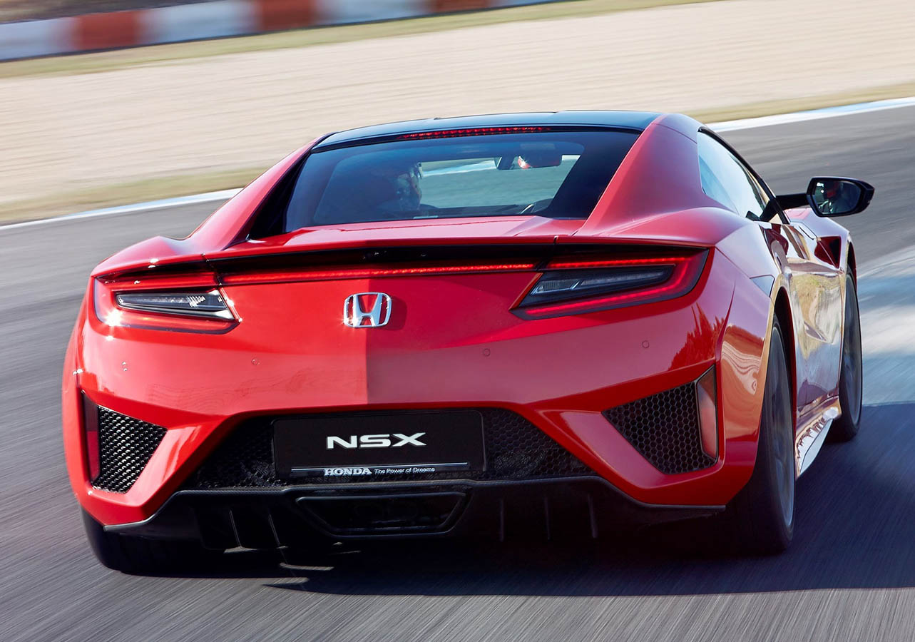 HONDA NSX CURVA RED