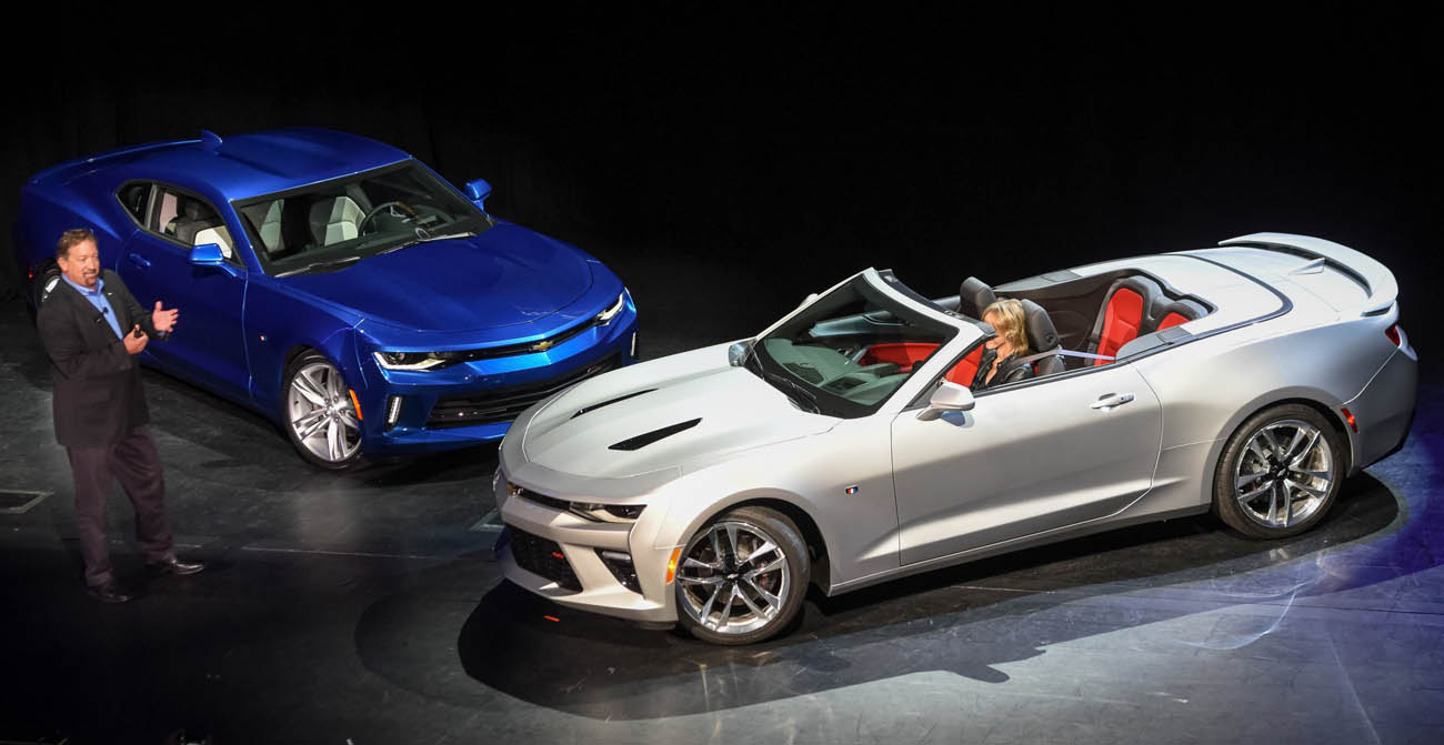 Chevrolet Lifts Lid On 2016 Camaro Convertible