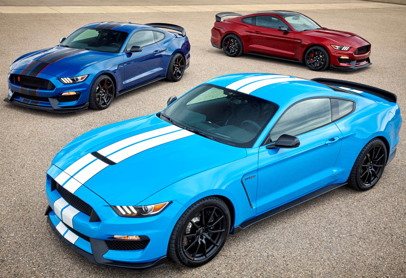 2017 Ford Shelby GT350 & GT350R in new colors