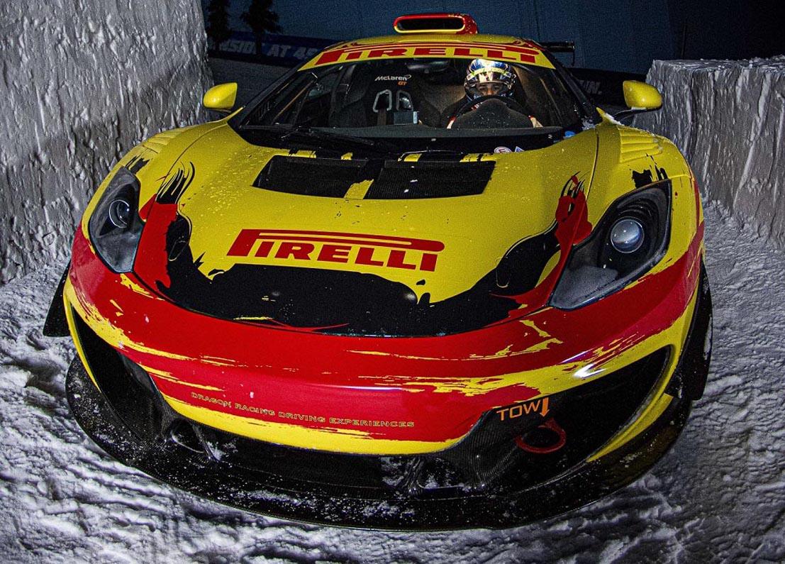 بيريللي تقدّم عرضاً استثنائياً في سكي دبي بمشاركة سيارة ماكلارين جي تي سبرينت