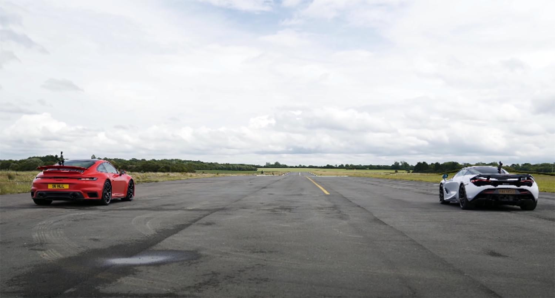 هل ستتمكن بورش 911 توربو أس الجديدة من سرقة لقب أسرع سيارة سباقات الدراغ من ماكلارين 720 أس