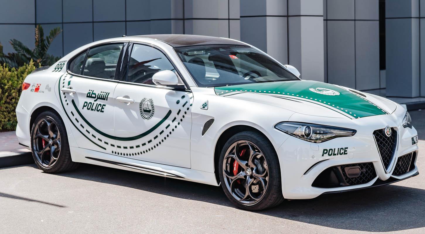 Dubai Police Adds Alfa Romeo's Giulia Quadrifoglio And Stelvio Quadrifoglio To Its Luxury Fleet